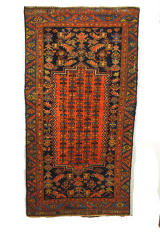Carpet from Kurdish nomads, old, around 1920-1930, with sun wheel patterns!