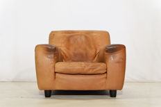 Molinari – 1 x 'Fatboy' natural leather Armchair.
