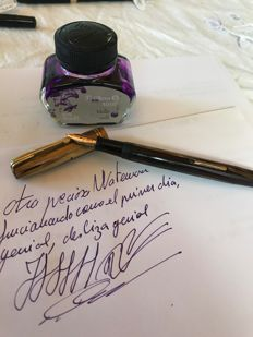 Waterman Ideal l 1945 plumin de oro nº 2  14 kt