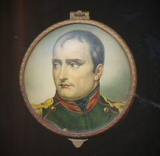 Brass box with enamel portret of Napoleon Bonaparte - 2nd half 19th century