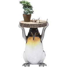 """Penguins of Madagascar""  Table - 4 cm strong tabletop imitates tree pit. Penguin Skipper holds them up"