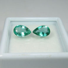 Emerald Pair - 1.59 Ct