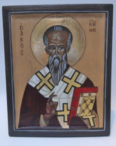 Macedonian icon Saint Kliment of Ohrid.  21st century