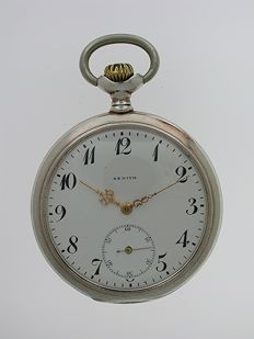 ZENITH Silver 0.800 Pocket Watch Swiss 1920
