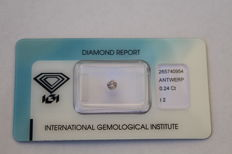 0.24 ct brilliant cut fancy colour Pink-Grey, Low minimum price