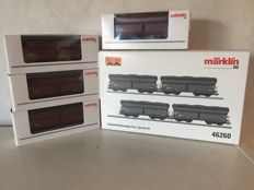 Märklin H0 - 46260 - Set with 4 self-discharging wagons of the DB