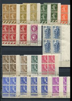France 1934/1959 - Collection of dated corners