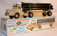 Dinky Supertoys-France - Scale 1/48 -  Unic Sahara Pipe Transporter No.893