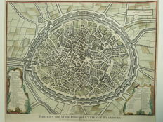 Belgium, Bruges; N. Tindal / Rapin de Thoyras - Bruges one of the Principal Cities of Flandres. - 1744