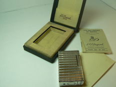 Silver plated Dupont lighter (large model), line prince de Galle