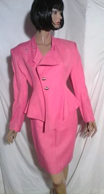 Thierry Mugler - Vintage candy pink suit.