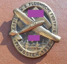 Badge 1st NSFK Flugwoche Pfingsten 1933  Germany