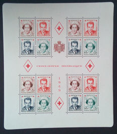 "Monaco 1949 – Block sheet ""Croix Rouge Monégasque"" perforated – Yvert n° 3A"