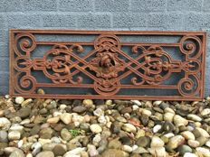 A large (120 cm) cast iron balustrade fence-panel - France - 20th century