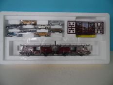 Märklin H0 47126 - Car transporter with 8 cars (Mercedes Benz)