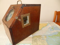 Very rare Antique Dutch Naval Boxed lifeboat/dorey/sloop.Compass Firma W,Boosman Amsterdam