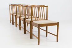 Designer unknown – Set of six vintage chairs