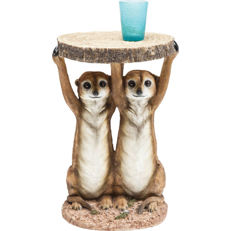 Table (6.4 kg) supported by two Meerkats - for snacks / drinks