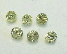 Lot of 6 natural diamonds - 1.04 ct - ***No reserve price***