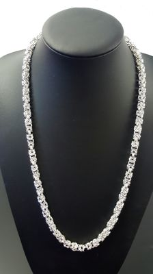 Silver king´s braid link necklace 925 - 65 cm - 104.4 g
