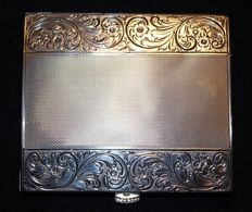 Beautiful Art Nouveau Sterling Silver Cigarette Case