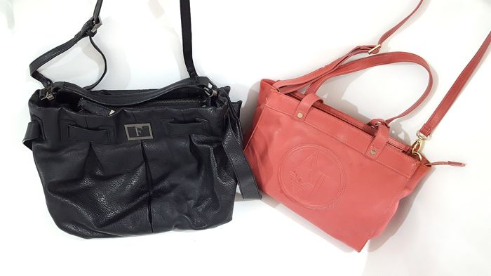 Armani shoulder bag & G. Ferre shoulder bag