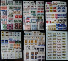 Federal Republic of Germany 1954/1994 – Batch of 937 blocks and strips of 4 in stock book + sheets/part sheets