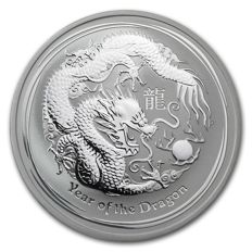 Australia - 1 AUD - Lunar II Year of the Dragon 2012 - Perth Mint - Edition of only 300,000 pieces