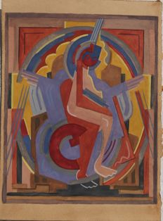 Anonymous (20th century) - Figure cubiste dansant
