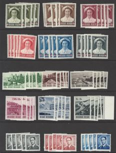 Belgium – Batch of 5x OBP no. 912 to 926 Joséphine-Charlotte, Turistic and King Boudewijn with glasses