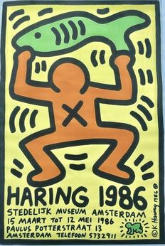 Keith Haring (after) - Haring 1986 Stedelijk Museum Amsterdam