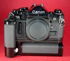 CANON A1 BLACK + BATTERY PACK MA + MOTOR DRIVE MA - 1978