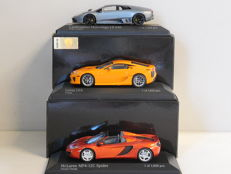 Minichamps - Scale 1/43 - Lot with 3 models: Lamborghini, Lexus & McLaren