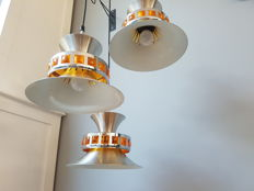 Designer unknown - Space age pendant lamp 3 dishes