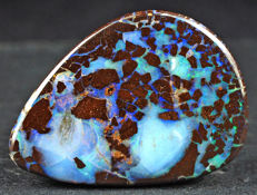 Natural Australian Boulder Opal Cut Stone - 25 x 18 x 5mm - 21.50ct