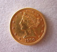 United States - 5 dollars 1900 - gold.