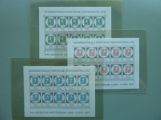 The Netherlands – Stamp sheetlets and combinations with i.a. Dutch Legion and Amphilex