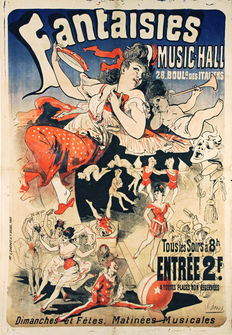 Jules Chéret - Fantaisies, Music-Hall - 1876
