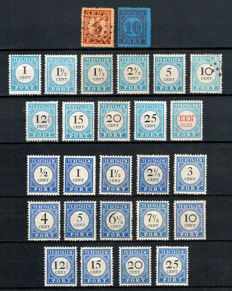 The Netherlands 1870/1910 - Collection port stamps - NVPH P1/2, P3/12, P13/26