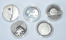 Germany - 10 Euro 2001/2005 (5 pieces) - Silver