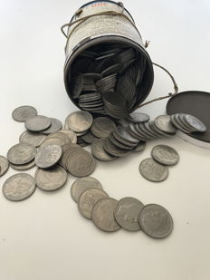 France – 10 Francs 'Turin' from the 1940s – Approx. 315 coins (2.5 kg)