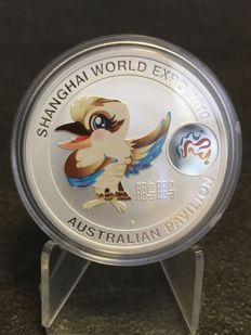 Australia - 1 AUD - Perth Mint Australia Pavilion Shanghai World Expo 2010 Kookaburra colour - Edition only 30,000 pieces.