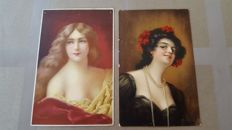 Art Nouveau signed postcards from well known illustrators and publishers 72 x