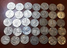 Kingdom of Italy - 5 Lira 'Aquilotto' (Eagle), 1927-1928, Vittorio Emanuele III (35 pieces) - silver