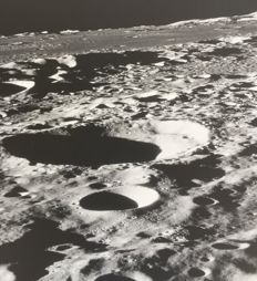 NASA - Apollo 16 - View of Moon craters from Orbit - 1976