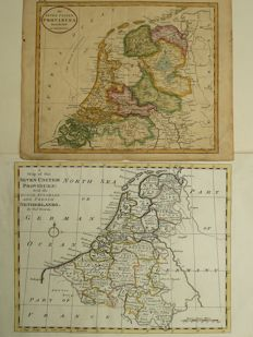 The Netherlands; Thomas Bowen / Wiliam Guthrie - A map of the seven united Provinces / The seven United provinces from the best Authorities - 1777 / 1815