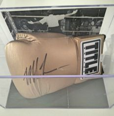 Mike Tyson - Signed limited-edition gold-coloured glove with a JSA certificate