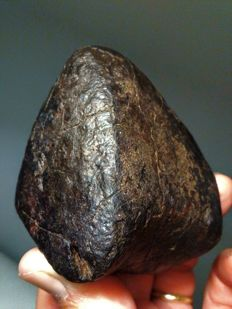 Chondrite Meteorite, NWA unclassified - 408 grams. Fusion crust.