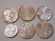 Finland - Lot of 6 coins - 10-50 markkaa 141,4g - silver