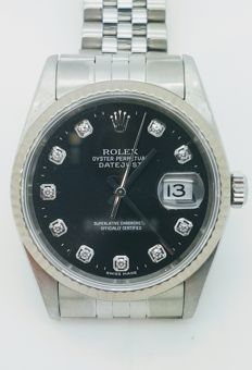 Rolex - Datejust With Diamonds - Ref. 16234 - Unisex - 2000-2010